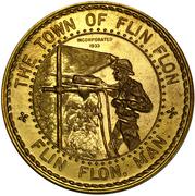 Medallion - Canadian Centennial (Flin Flon, Manitoba) – reverse