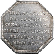 Agent général du clergé de France - Louis de Jarente de Sénas d'Orgeval – reverse