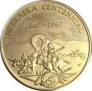 Token - Nebraska Centennial (Arbor Day) – reverse