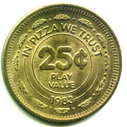 25 Cents - Chuck E Cheese (In Pizza We Trust) – reverse