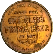1 Glass Beer - Prima Brewing Company (Pontiac, IL) – reverse