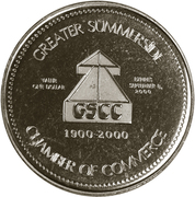 Bridging the Century Dollar - Summerside, Prince Edward Island – reverse