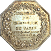 Consulat Token - Chamber of Commerce Paris – reverse