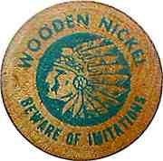 Wooden Nickel - First Western Bank – reverse