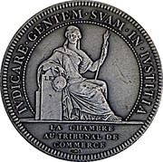 Jeton Tribunal de commerce de Nantes – reverse