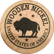 Wooden Nickel - Wall Drug (South Dakota) – reverse