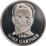 Token - Hockey Hall of Fame 2001 (Mike Gartner) – obverse