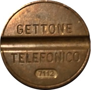 Telephone Token - Gettone Telefonico (Without mintmark - With date; ESM) – obverse