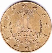 1 Euro (Mousquetaires) – reverse