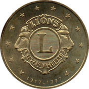 1 Euro (Lions International) – obverse