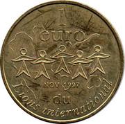 1 Euro (Lions International) – reverse