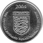 Token - Official England Squad 2004 (Ledley King) – reverse