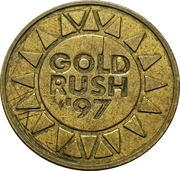 Token - Gold Rush '97 – reverse