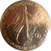Medal - American Revolution Bicentennial (John Adams) – reverse