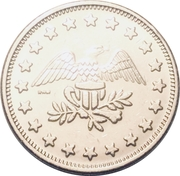 Token - No Cash Value (Eagle looking right; 23 mm; Copper-nickel; more detailed image of the eagle) – obverse