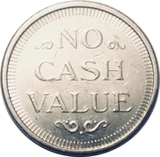Token - No Cash Value (Eagle looking right; 23 mm; Copper-nickel; more detailed image of the eagle) – reverse