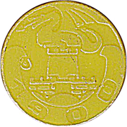 Token - LPP (Urban bus transport; yellow) – obverse