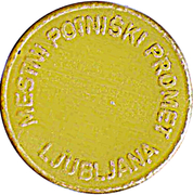 Token - LPP (Urban bus transport; yellow) – reverse