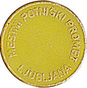 Token - LPP (Urban bus transport; yellow) – reverse