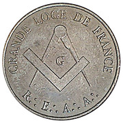 Masonic Token - Grande Loge de France – reverse