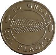 Token - 15 Great All Blacks (Bruce Robertson) – reverse