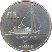 5 Florin - Coevorden (Turfpraam) – reverse