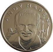 Token - 15 Great All Blacks (Andy Haden) – obverse