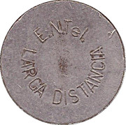 Telephone Token - Entel (long-distance calling) – obverse