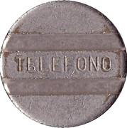 Telephone Token - ENTel (long-distance calling; 2 grooves) – reverse