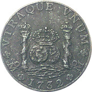 Pillar Dollar 8 Reales (Historical Replica Coin) – obverse