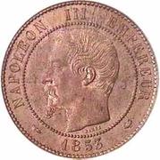 Module de 10 Centimes, Monnaie de Visite – obverse