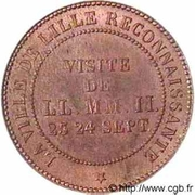 Module de 10 Centimes, Monnaie de Visite – reverse