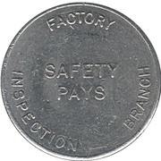 Token - Canadian National Exhibition-Department of Labour (Ontario) – reverse
