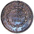 Jeton 20 francs Dupré (Copie) – reverse