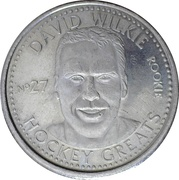Token - NHLPA Limited Edition Greats Coin Collection (David Wilkie) – obverse
