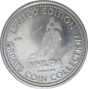 Token - NHLPA Limited Edition Greats Coin Collection (David Wilkie) – reverse