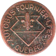 Token - Autobus Fournier LTEE (Quebec; Copper; 22 mm) – obverse