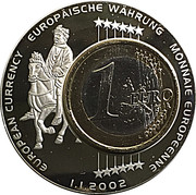 Token - European Currency (Germany 1 Euro) – obverse