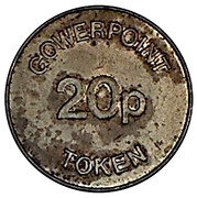 20 Pence Token - Gowerpoint – reverse