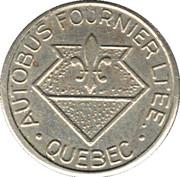 Token - Autobus Fournier LTEE (Québec; White metal; 17 mm) – reverse