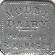 1 Pint - Model Dairy, R. M. Hagey (Preston, Waterloo County, Ontario) – obverse