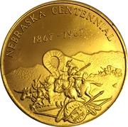 Token - Nebraska Centennial (Omaha Coin Club) – reverse