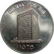 Token - Regina City Hall – reverse