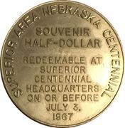 Token - Nebraska Centennial (Superior Area) – reverse