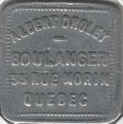 1 Pain- Albert Drolet, boulanger (Québec, Québec) – obverse