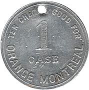 1 Case/ 10 Cheks - Orange Montreal (Montréal, Québec) – obverse