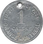 1 Case/ 10 Cheks - Orange Montreal (Montréal, Québec) – reverse