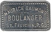 1 Pain - Maurice Gaumond, boulanger (St-Félicien, Québec) – obverse