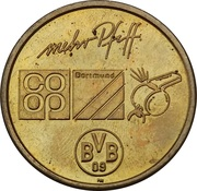Token - Borussia Dortmund BVB 09 (Stefan Reuter) – reverse