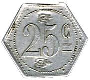 25 Centimes - Prison Saint-Lazare (Paris) – reverse